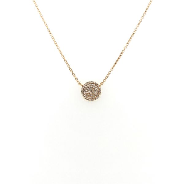 14K Gold Round Diamond Necklace Jais Providenciales,