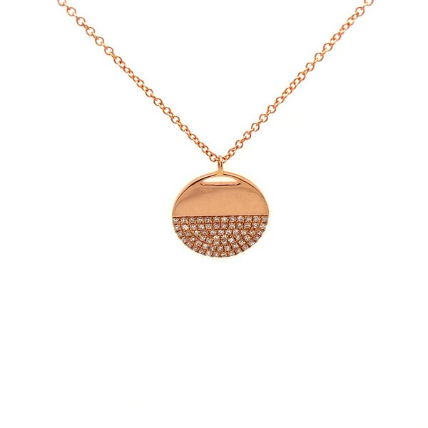 Round Pave Diamond Necklace Jais Providenciales,