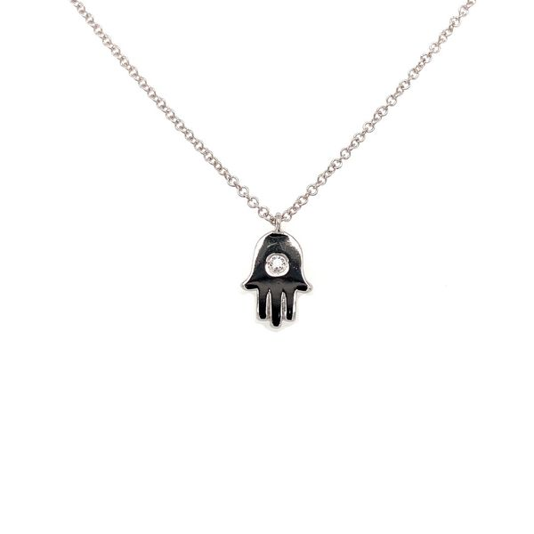 14K Gold Hamsa Necklace Jais Providenciales,