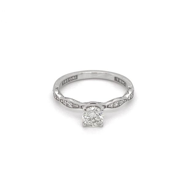 Sculpted Crescent Diamond Engagement Ring Jais Providenciales,