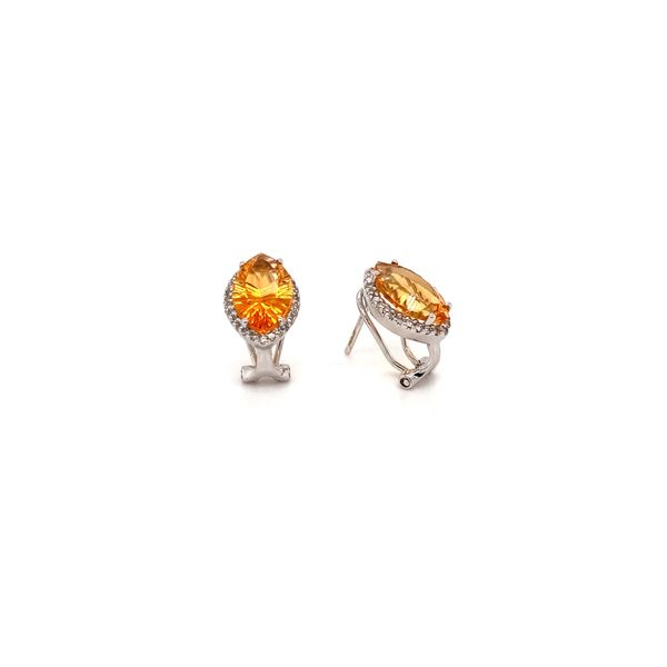 Citrine & Diamond Earrings Image 2 Jais Providenciales,