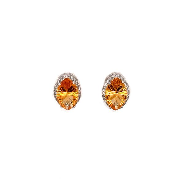 Citrine & Diamond Earrings Jais Providenciales,