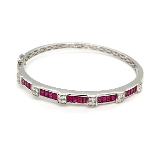 Ruby & Diamond Bangle Image 2 Jais Providenciales,