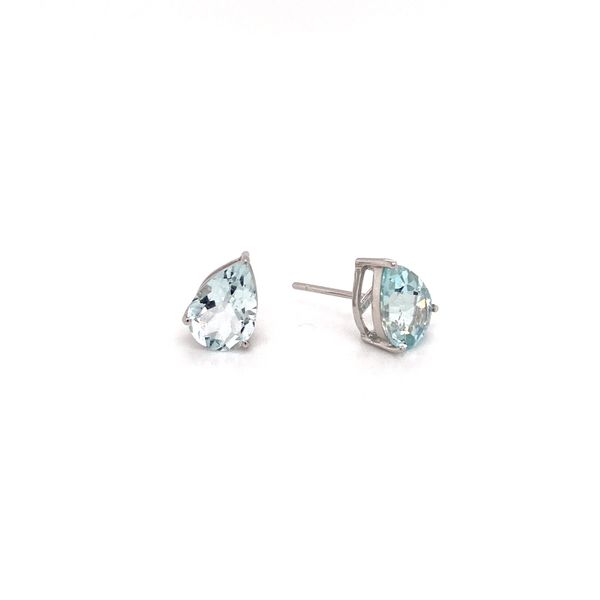Aquamarine earrings Image 2 Jais Providenciales,