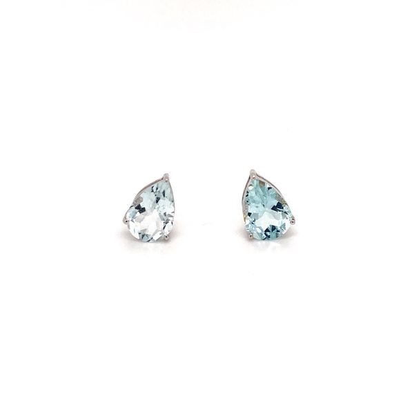 Aquamarine earrings Jais Providenciales,