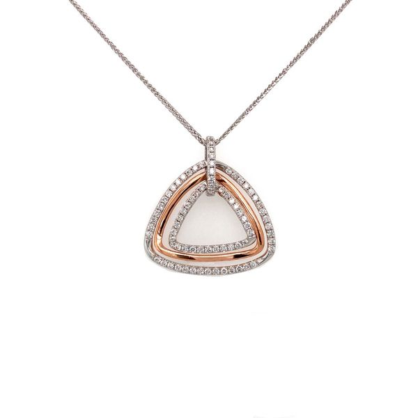 Three Triangles Diamond Necklace Jais Providenciales,