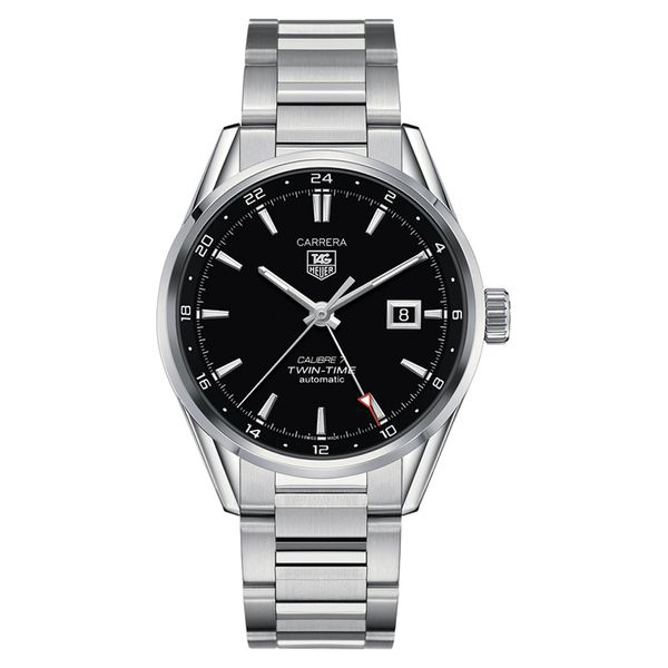 TAG Heuer Carrera Calibre 7 Automatic GMT Mens Black Steel Watch Jais Providenciales,