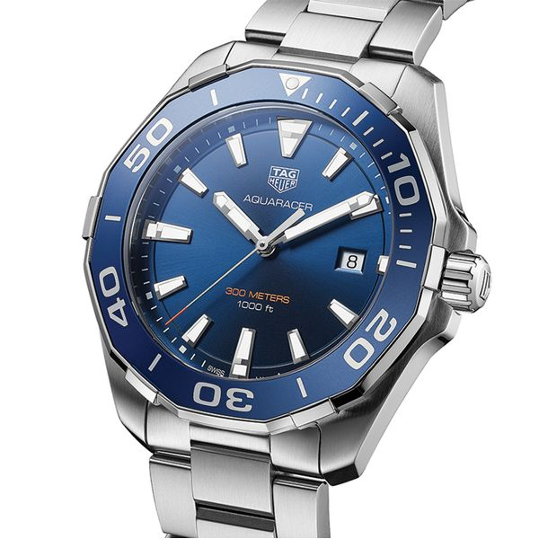 TAG Heuer Aquaracer Quartz Mens Blue Steel Watch Image 2 Jais Providenciales,