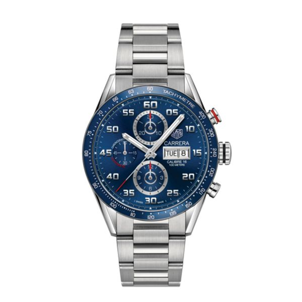 TAG Heuer Carrera Calibre 16 Automatic Mens Blue Steel Chronograph Jais Providenciales,