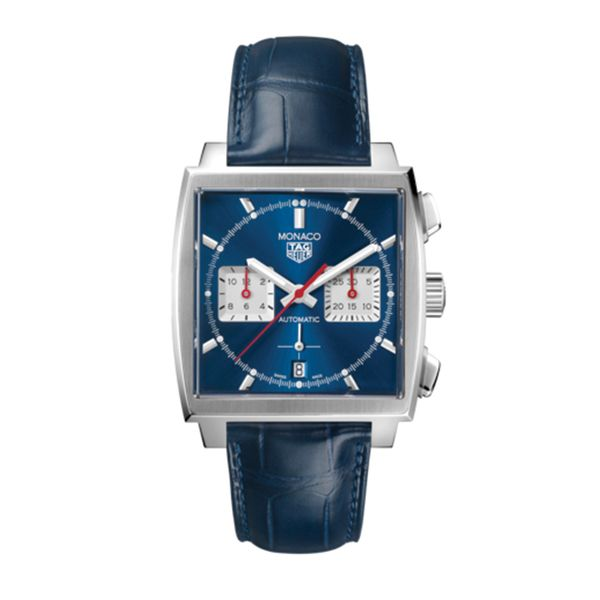 TAG Heuer Monaco Heuer 02 Automatic Mens Blue Leather Chronograph Jais Providenciales,