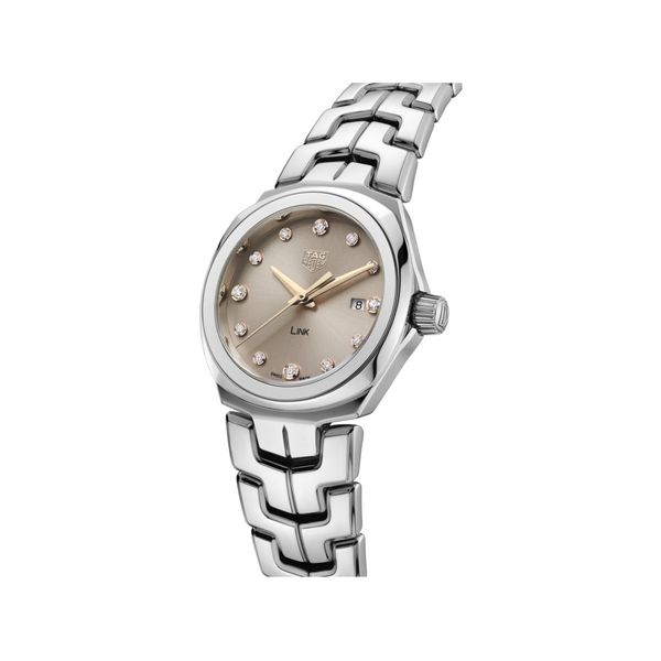 TAG Heuer Link Quartz Ladies Taupe Steel Watch Image 2 Jais Providenciales,