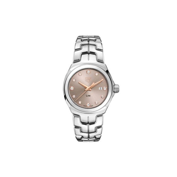 TAG Heuer Link Quartz Ladies Taupe Steel Watch Jais Providenciales,
