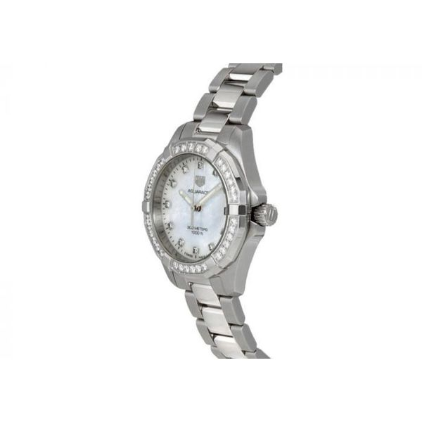 TAG Heuer Aquaracer Quartz Ladies Mother of Pearl Steel Watch Image 2 Jais Providenciales,