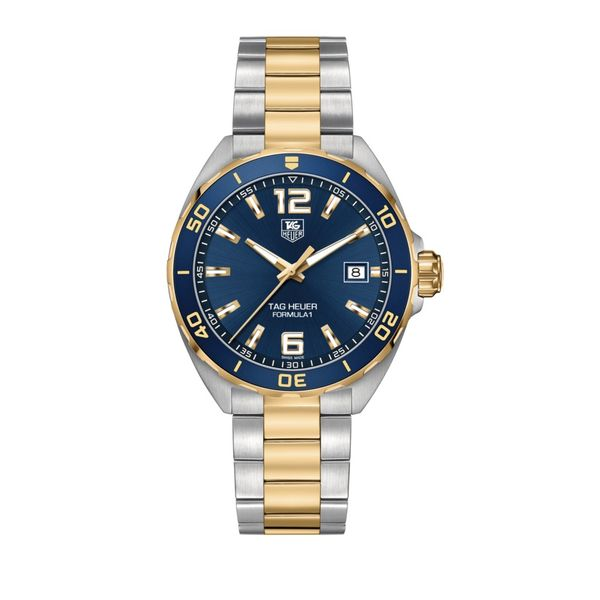 TAG Heuer Formula 1 Quartz Mens Blue Steel/Yellow Gold Watch Jais Providenciales,