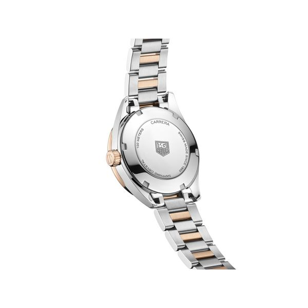 TAG Heuer Carrera Quartz Ladies Mother of Pearl Steel & Rose Gold capped Watch Image 4 Jais Providenciales,