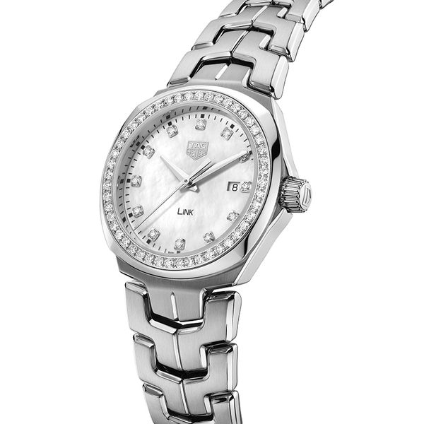TAG Heuer Link Quartz Ladies Mother of Pearl Steel Watch Image 2 Jais Providenciales,