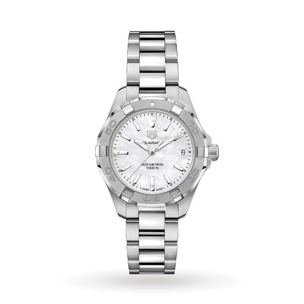 TAG Heuer Aquaracer Quartz Ladies Mother of Pearl Steel Watch Jais Providenciales,