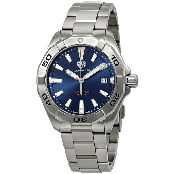 TAG Heuer Aquaracer Quartz Mens Blue Steel Watch Image 3 Jais Providenciales,