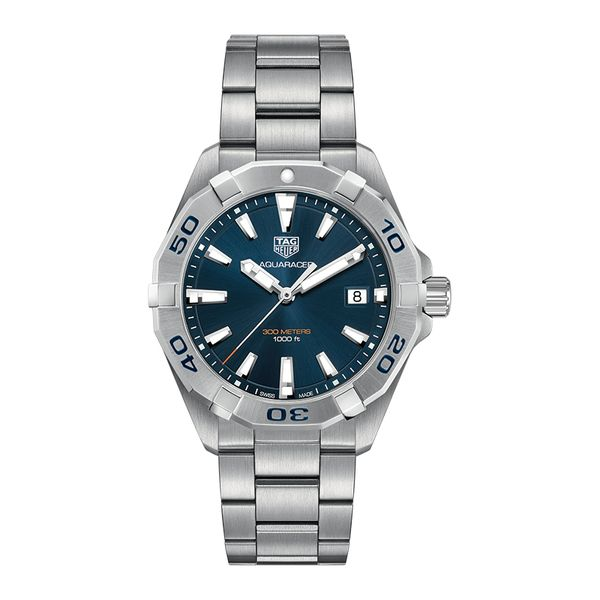 TAG Heuer Aquaracer Quartz Mens Blue Steel Watch Jais Providenciales,