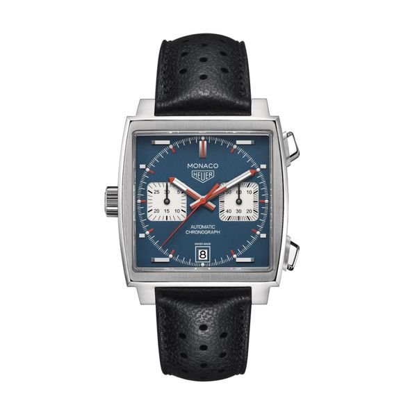 TAG Heuer Monaco Calibre 11 Automatic Mens Blue Leather Chronograph Jais Providenciales,