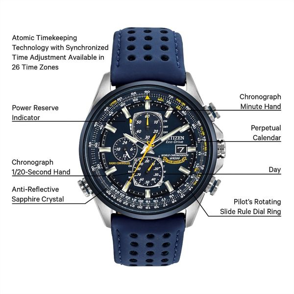 Blue Angels World  Chronograph A-T Watch Image 3 Jais Providenciales,