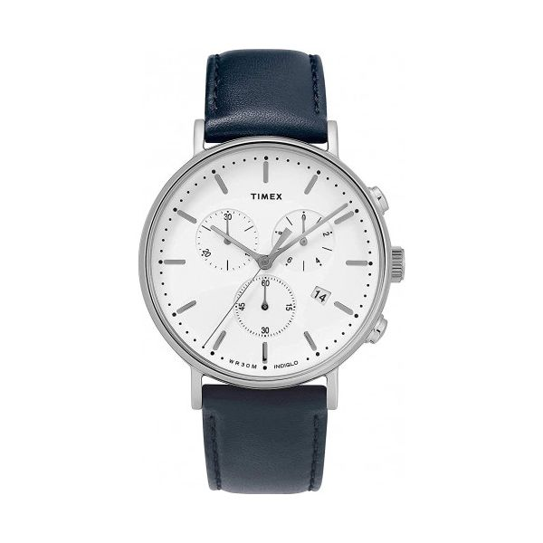 Fairfield Chronograph 41mm Leather Strap Watch Jais Providenciales,