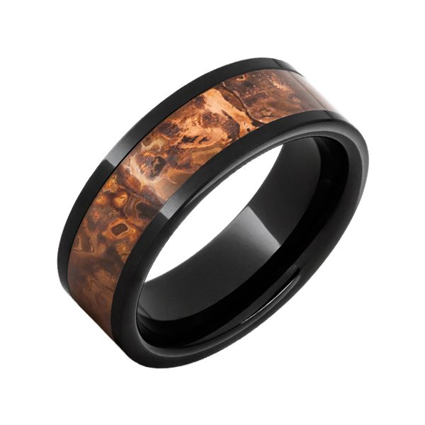 Ceramic Wedding Band with Copper Inlay J. Howard Jewelers Bedford, IN