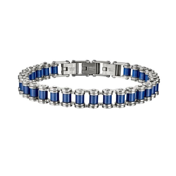 Gent's Stainless Steel Chain Bracelet J. Howard Jewelers Bedford, IN