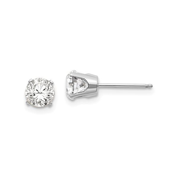 14kw White Topaz Stud Earrings John Michael Matthews Fine Jewelry Vero Beach, FL