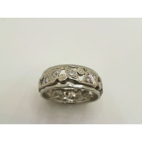 Vintage 14kw Diamond Eternity Band Ring John Michael Matthews Fine Jewelry Vero Beach, FL