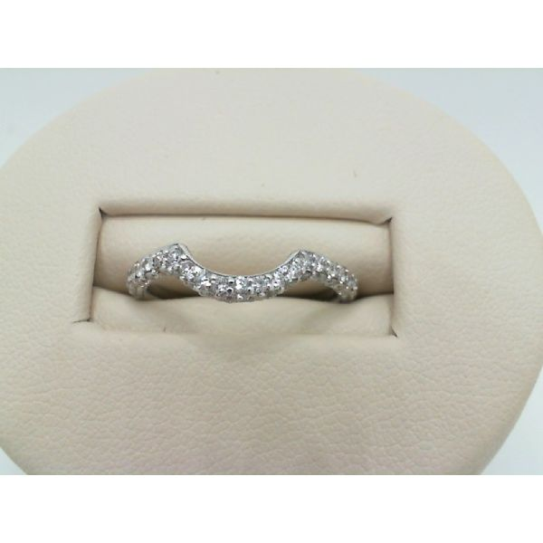 Vintage 14kw Curved Diamond Band Ring John Michael Matthews Fine Jewelry Vero Beach, FL