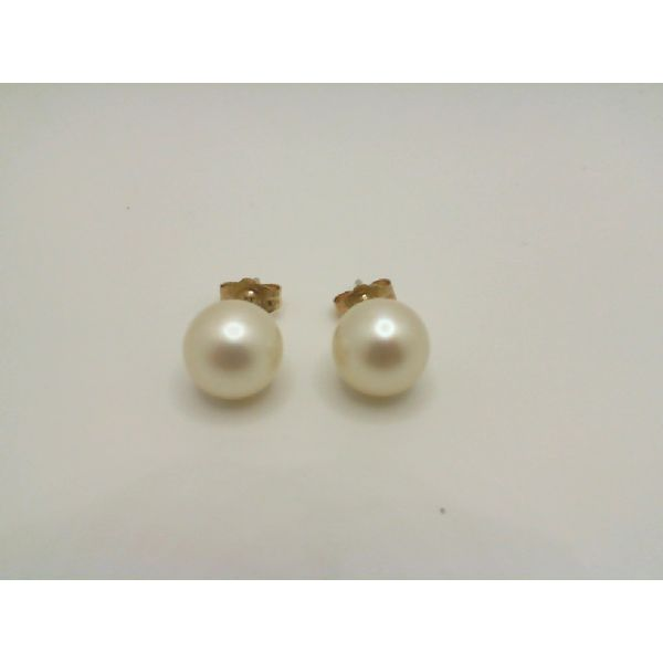 Vintage 14ky 8 mm Akoya Pearl Stud Earrings John Michael Matthews Fine Jewelry Vero Beach, FL
