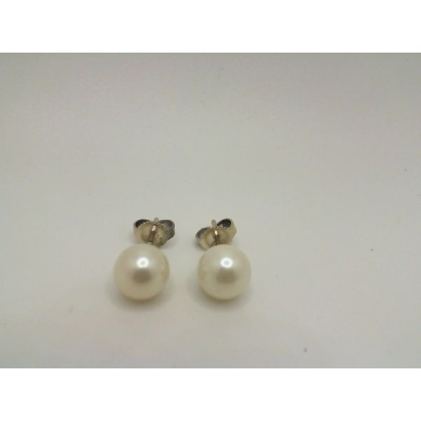 Vintage 14kw 7 mm Akoya Pearl Stud Earrings John Michael Matthews Fine Jewelry Vero Beach, FL