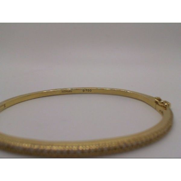 Vintage 18ky Diamond Line Hinged Bangle Bracelet Image 2 John Michael Matthews Fine Jewelry Vero Beach, FL