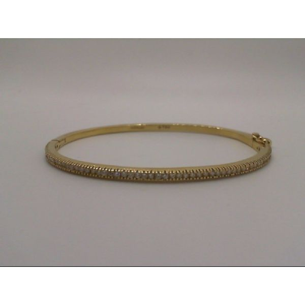 Vintage 18ky Diamond Line Hinged Bangle Bracelet John Michael Matthews Fine Jewelry Vero Beach, FL