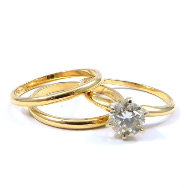 Three Piece Diamond Wedding Set Joint Venture Jewelry Cary, NC