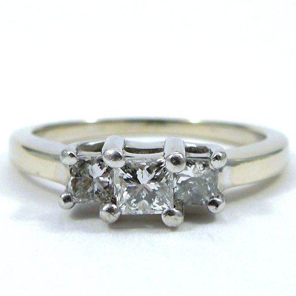 Three Stone, Princess Cut Diamond Engagement Ring Joint Venture Jewelry Cary, NC