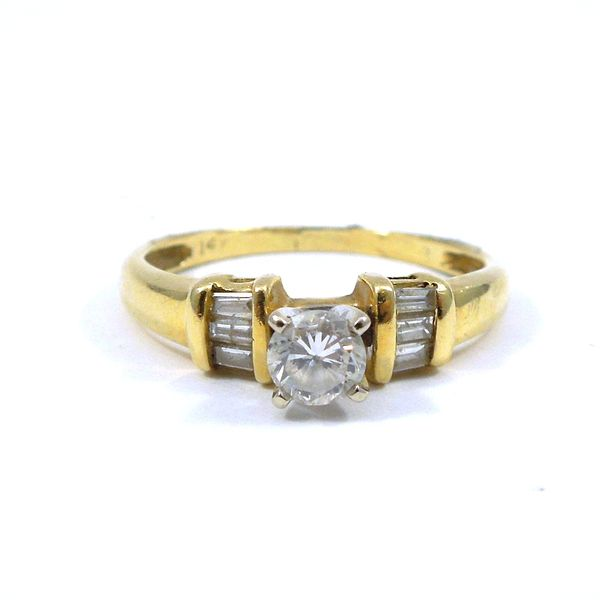 Yellow Gold Diamond Engagement Ring Joint Venture Jewelry Cary, NC