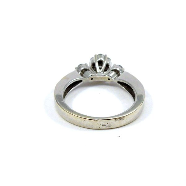 Diamond Cluster Engagement Ring Image 3 Joint Venture Jewelry Cary, NC