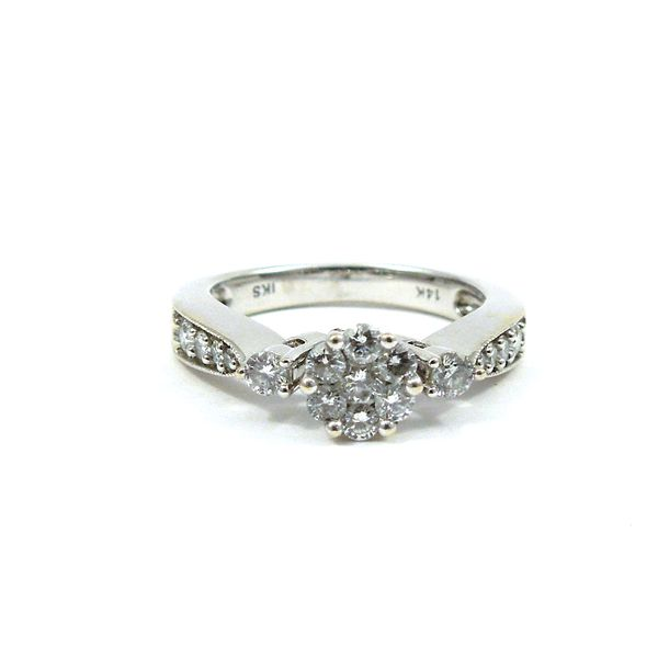 Diamond Cluster Engagement Ring Joint Venture Jewelry Cary, NC