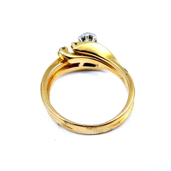 Yellow Gold Bypass Diamond Engagement Ring Image 3 Joint Venture Jewelry Cary, NC