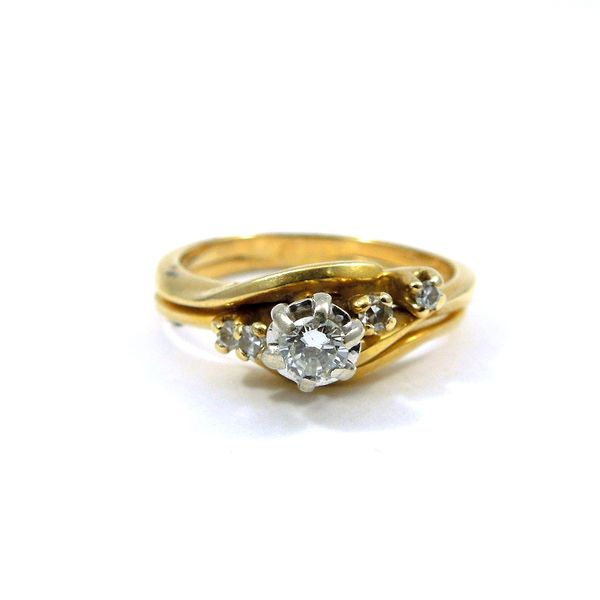 Yellow Gold Bypass Diamond Engagement Ring Joint Venture Jewelry Cary, NC