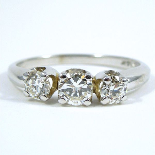 Three Stone Diamond Engagement Ring Joint Venture Jewelry Cary, NC