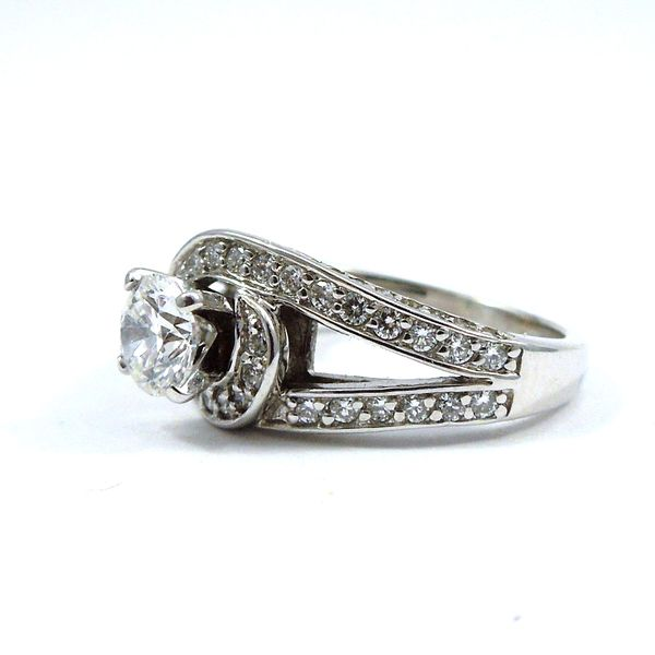 Swirl Design Diamond Engagement Ring Image 2 Joint Venture Jewelry Cary, NC