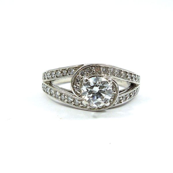 Swirl Design Diamond Engagement Ring Joint Venture Jewelry Cary, NC