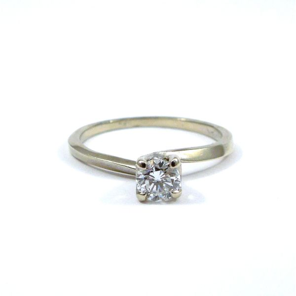 Diamond Engagement Ring & Matching Band Image 2 Joint Venture Jewelry Cary, NC