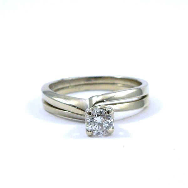 Diamond Engagement Ring & Matching Band Joint Venture Jewelry Cary, NC
