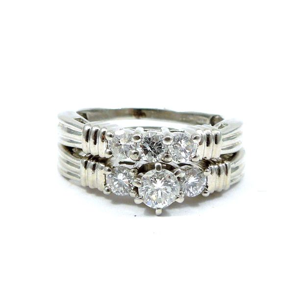 Diamond Engagement Ring with Matching Band Joint Venture Jewelry Cary, NC
