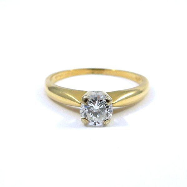 Yellow Gold Solitaire Engagement Set Image 3 Joint Venture Jewelry Cary, NC