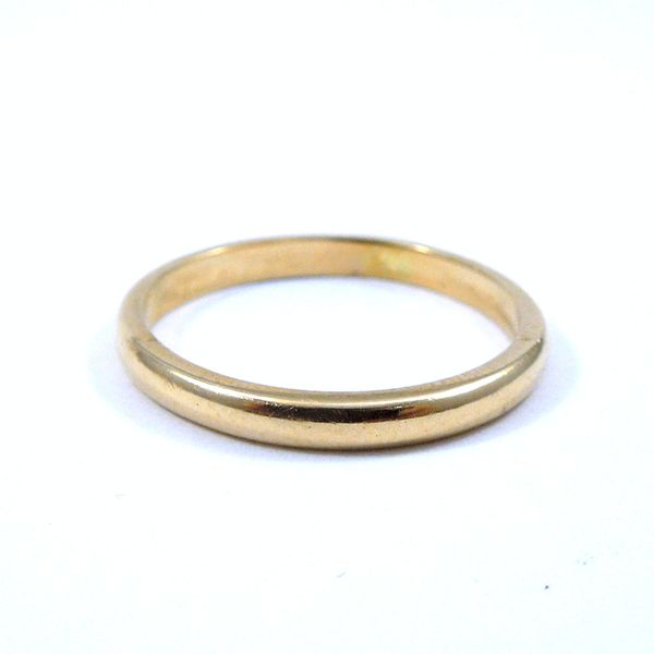 Yellow Gold Solitaire Engagement Set Image 4 Joint Venture Jewelry Cary, NC